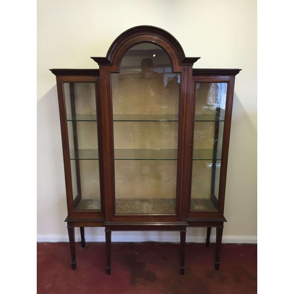 Cabinets Stunning Mahogany Chippendale Style Astral Glazed Display Cabinet Antiques